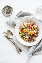 Healthy quinoa salad with tomatoes