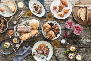 Large breakfast spread