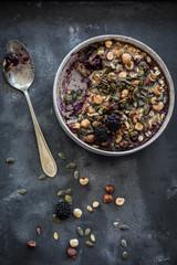Black berry oat breakfast