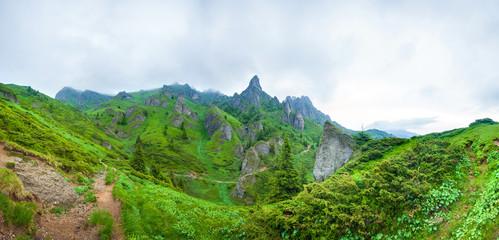 Mount Ciucas peack on summer