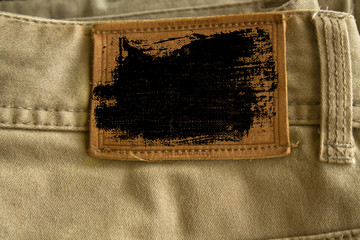 Grunge dirty Empty label denim texture for the traditional business background