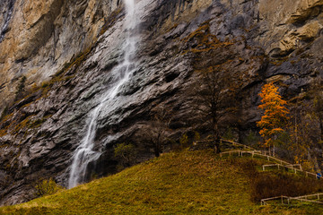 Wall Mural - lauterbrunnen in the autumn time, Switzerland