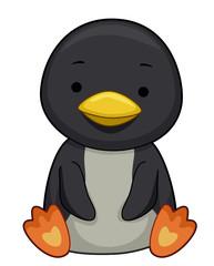 Penguin Sit Illustration