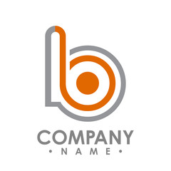 Business corporate letter b logo design vector. Colorful letter b logo vector template. Letter b logo for technology.