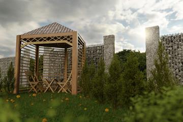 Bilder und videos suchen natursteinmauer for Gartengestaltung 3d