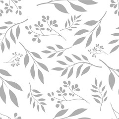 Seamless small Floral Pattern hand drawn doodle