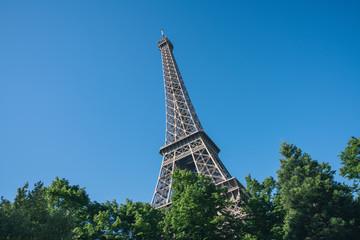 Eiffel Tower against blue sly, Paris France