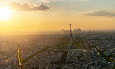 Paris skyline panorama, view from the Montparnass tower