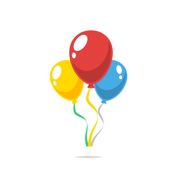 Party balloons vector isolated