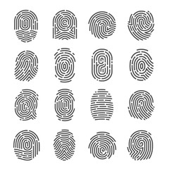 Fingerprint icon set