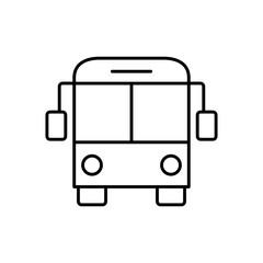 bus vehicle transfer line black icon