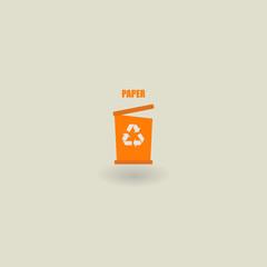 trash icon, ecology