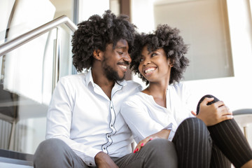 Afro couple in love