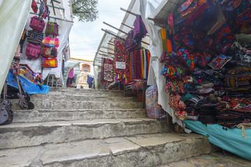 A Mayan market in San-Cristobal-de-las-Casas in Chiapas state in Mexico