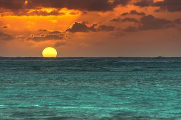 Sunset in Carebbean sea