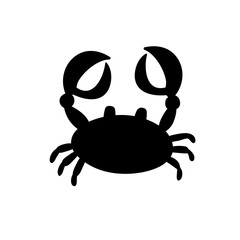 crab or cancer icon isolated on white background.