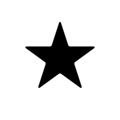 Star icon with slightly rounded corners. Easily colorable vector design on isolated background.