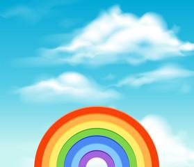 A Sky and Rainbow Template