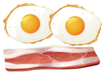 Two eggs and bacon