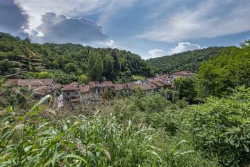 Polcenigo e il suo borgo medioevale sul fiume Livenza - panorama