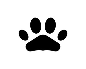 Foot print dog animal pet logo and symbols