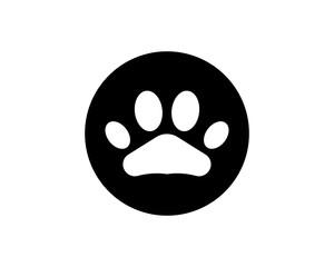 Foot print dog animal pet logo and symbols