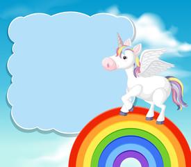 A Colourful Unicorn Template