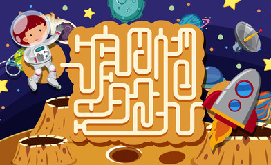 A Maze Puzzle Game Space Scene