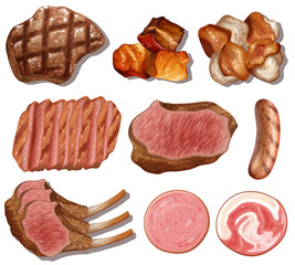 A Set of High Protein Food