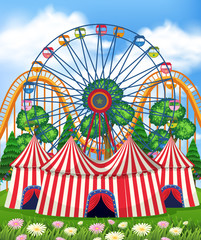 A Theme Park  and Tent