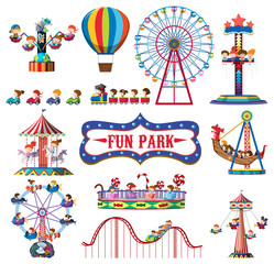 A set of fun park rides