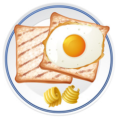 Toast and Egg for Breakfast
