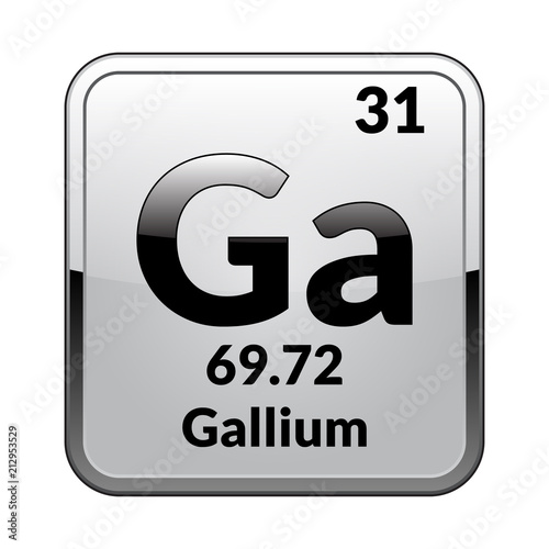 The Periodic Table Element Galliumctor Stock Image And Royalty
