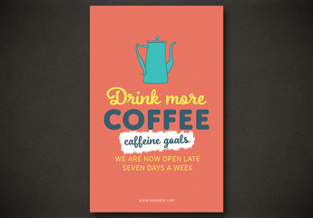 Coffee Shop Poster Layout