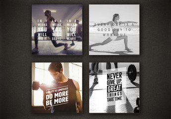 Fitness Social Media Post Layouts