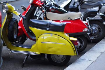 Motorbike. Vienna. Europe,  Tours Schonbrunn Palace gardens