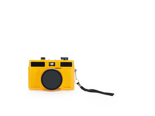 Isolated toy camera with lens cap