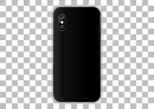 back case iphone. realistic smartphone camera