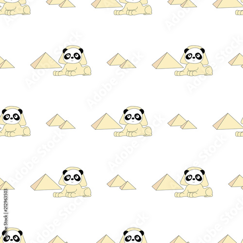 seamless baby pattern with cute panda best choice for cards