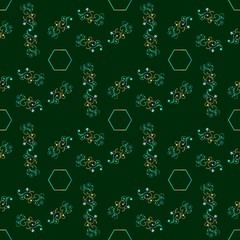 Seamless flower patterns, vector