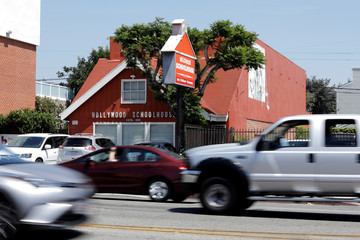 """The school where Meghan Markle went as a young child, formerly called """"Little Red School House"""",  is seen in Los Angeles"""