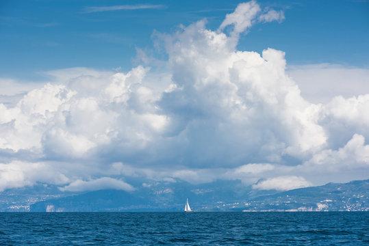 Sailboat sailing sail blue Mediterranean sea