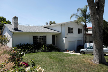 The family home of Meghan Markle, where she lived until the age of four, is seen in Woodland Hills
