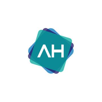 Initial Letter AH Logo Template Design