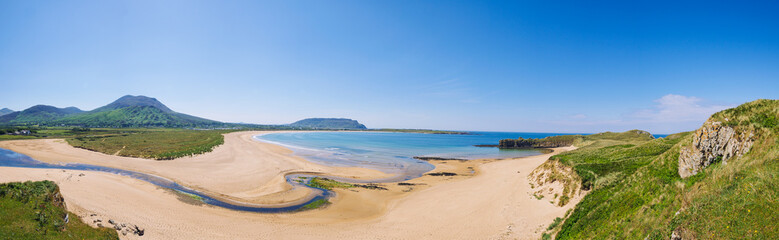 panorama view of summer donegal beach,Ireland