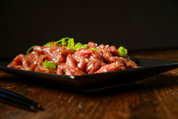 Raw Marinating Beef Bulgogi