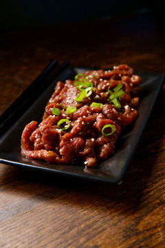 Raw Marinating Beef Bulgogi