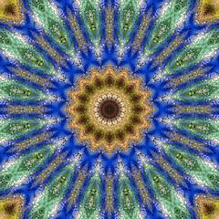 Colorful digital art, Oriental pattern, geometric texture, Mystical motif,  Abstract background, Fantastic design.