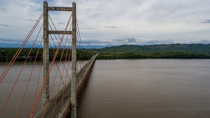 Beautiful aerial view of the Bridge Puente de la amistad Taiwan in Costa Rica