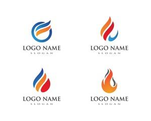 Fire flame Logo Templat
